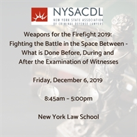 Weapons for the Firefight Seminar 2019: Fighting the Battle in the Space Between