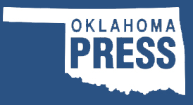 outline of Oklahoma with words Oklahoma Press