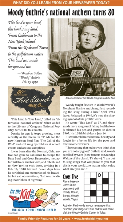 "Woodie Guthrie feature provided by ""For the Kid in You"" in 2020"