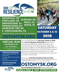 UOAA's annual Run for Resilience Ostomy 5K