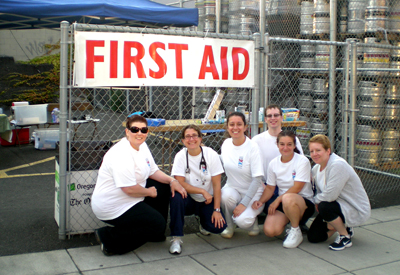 OSNA Volunteers at Providence Bridge Pedal