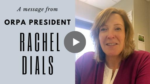 Message from President Rachel Dials