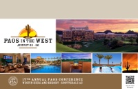 2016 Annual Conference - PAOS in the West