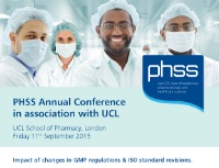PHSS Annual Members Conference in association with UCL Q3P