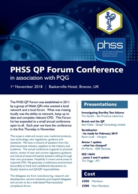 PHSS QP Forum Conference in association with PQG