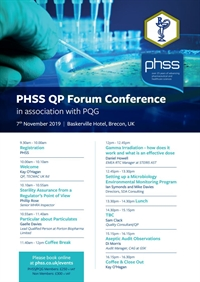 PHSS QP Forum Conference in association with PQG 2019