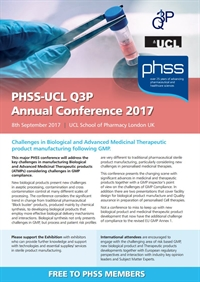 PHSS & UCL Q3P Annual Conference 2017 - Exhibitors and Sponsors