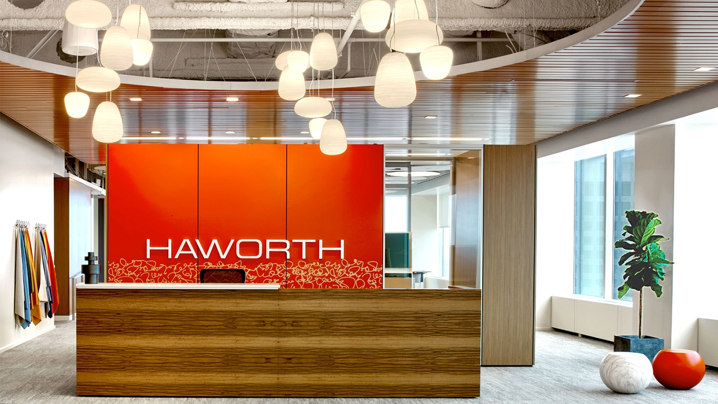 The Haworth Showroom Front Desk