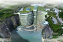 "stunning ""groundscaper"" hotel to be built is an ambitious project by Shimao Property Group and Atkins. Located 30 miles from Shanghai, in an abandoned quarry in Songjiang, China, the luxury resort will have 16 floors below the surface of the earth, and 3 stories above ground."