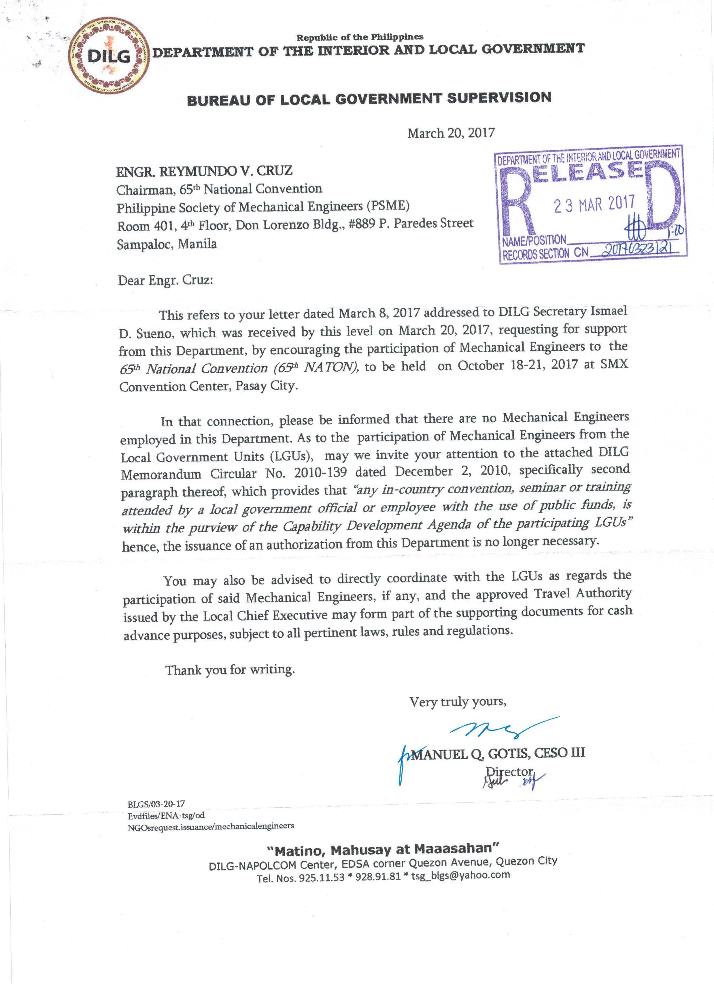 Sample Letter To A Philippine Senator