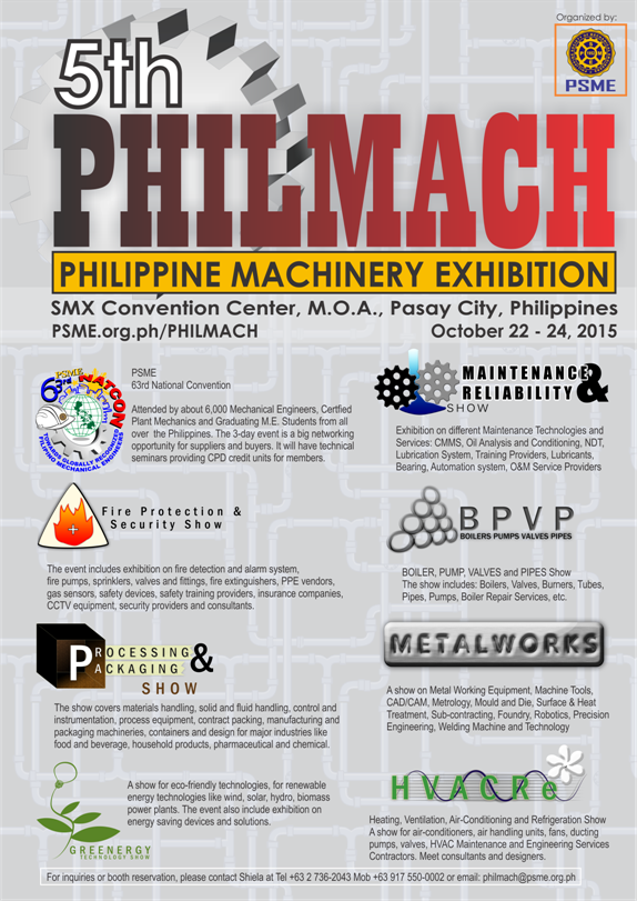 Philippine Machinery Exhibition (PHILMACH) - Philippine Society of