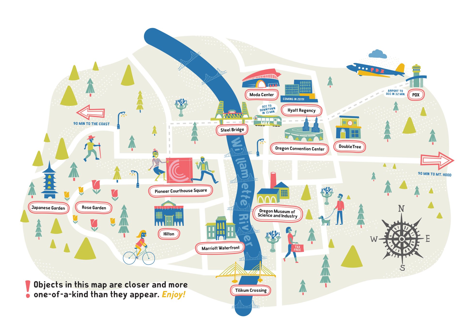 Portland Map from TravelPortland.com