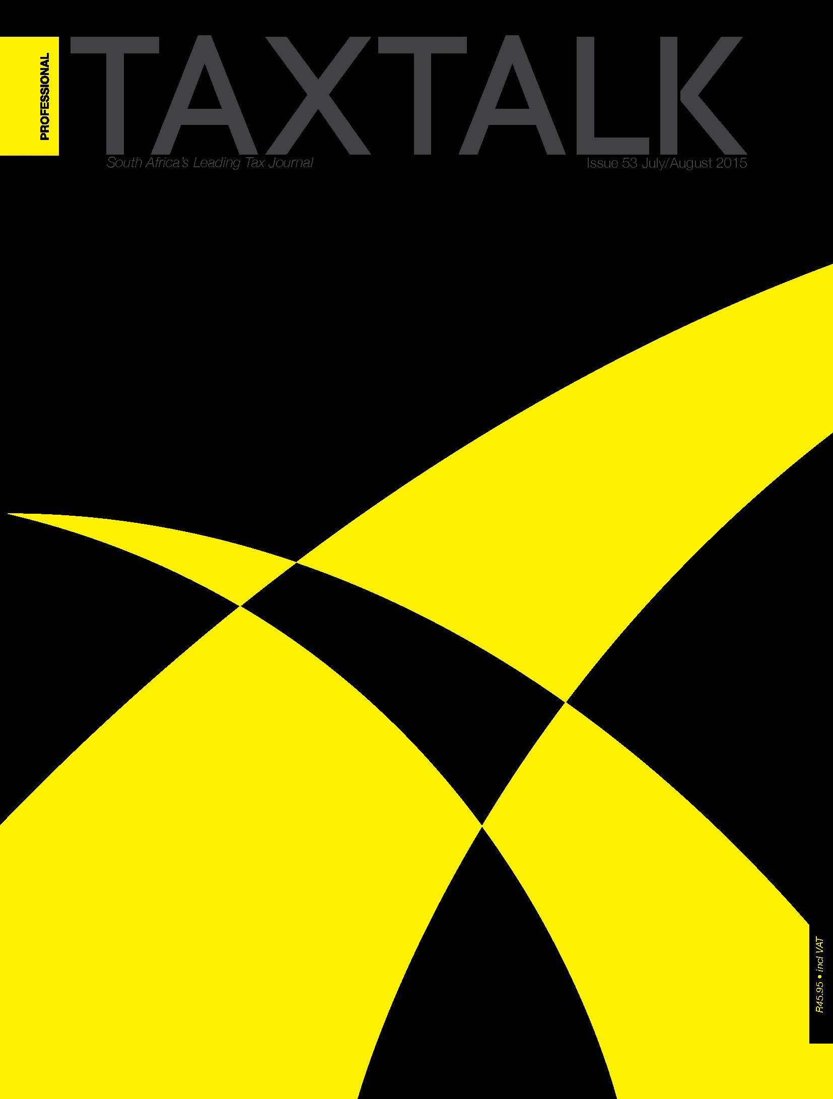taxtalk cover