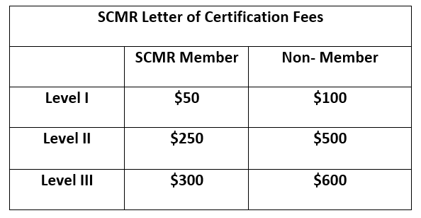 SCMR Letter of Certification - Society for Cardiovascular