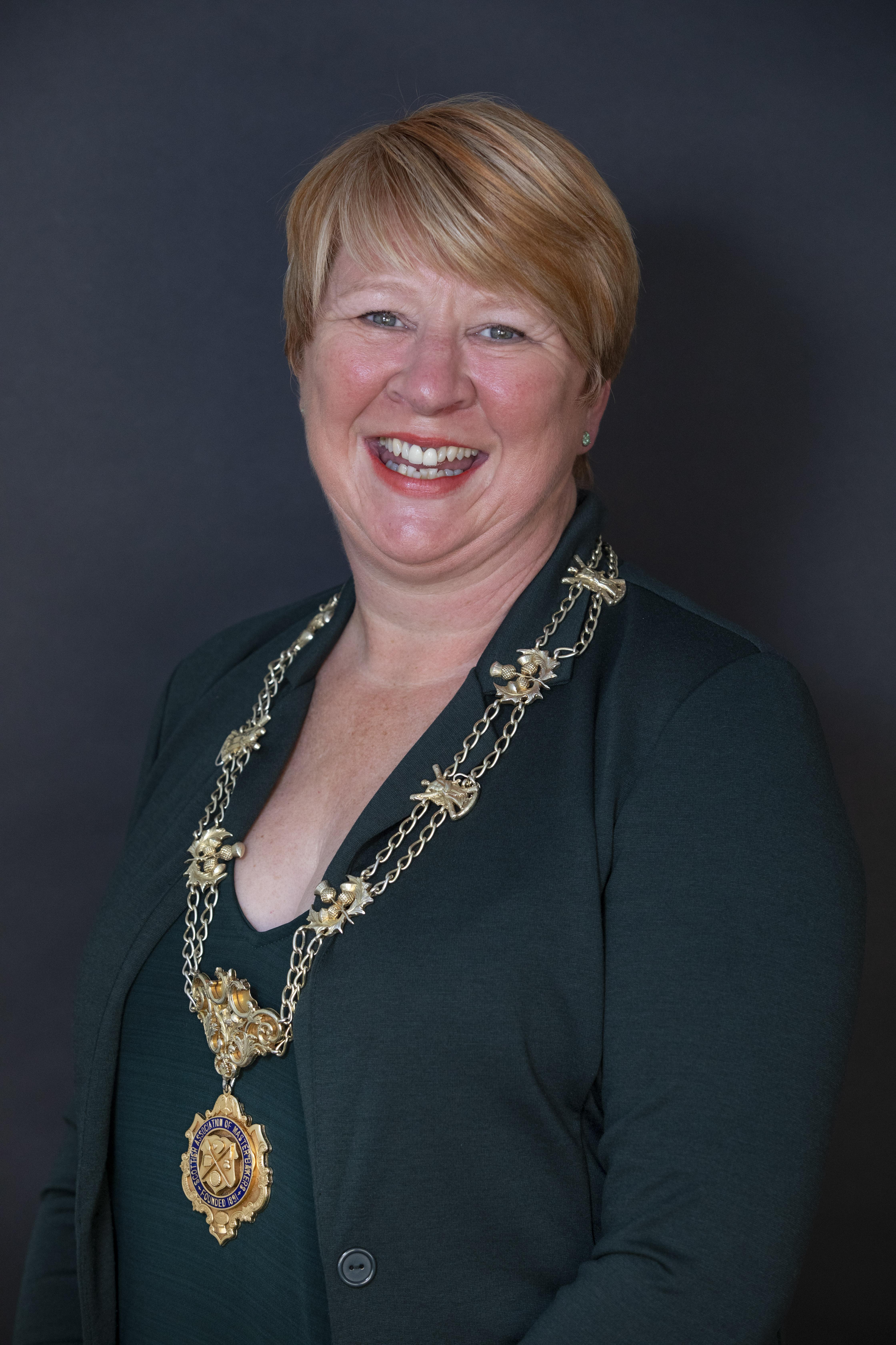 President Linda Hill, Murrays Bakers, Perth