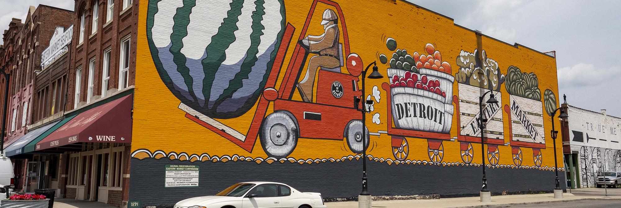 Eastern Market Mural. Photo by Bill Bowen. Courtesy of visitdetroit.com
