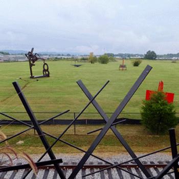 Sculpture Fields, taken from John & Pamela's deck. Photo by Bruce Daniels