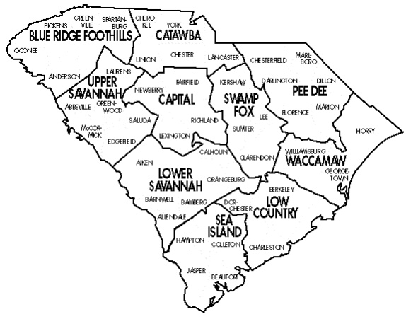 WEASC Districts Map
