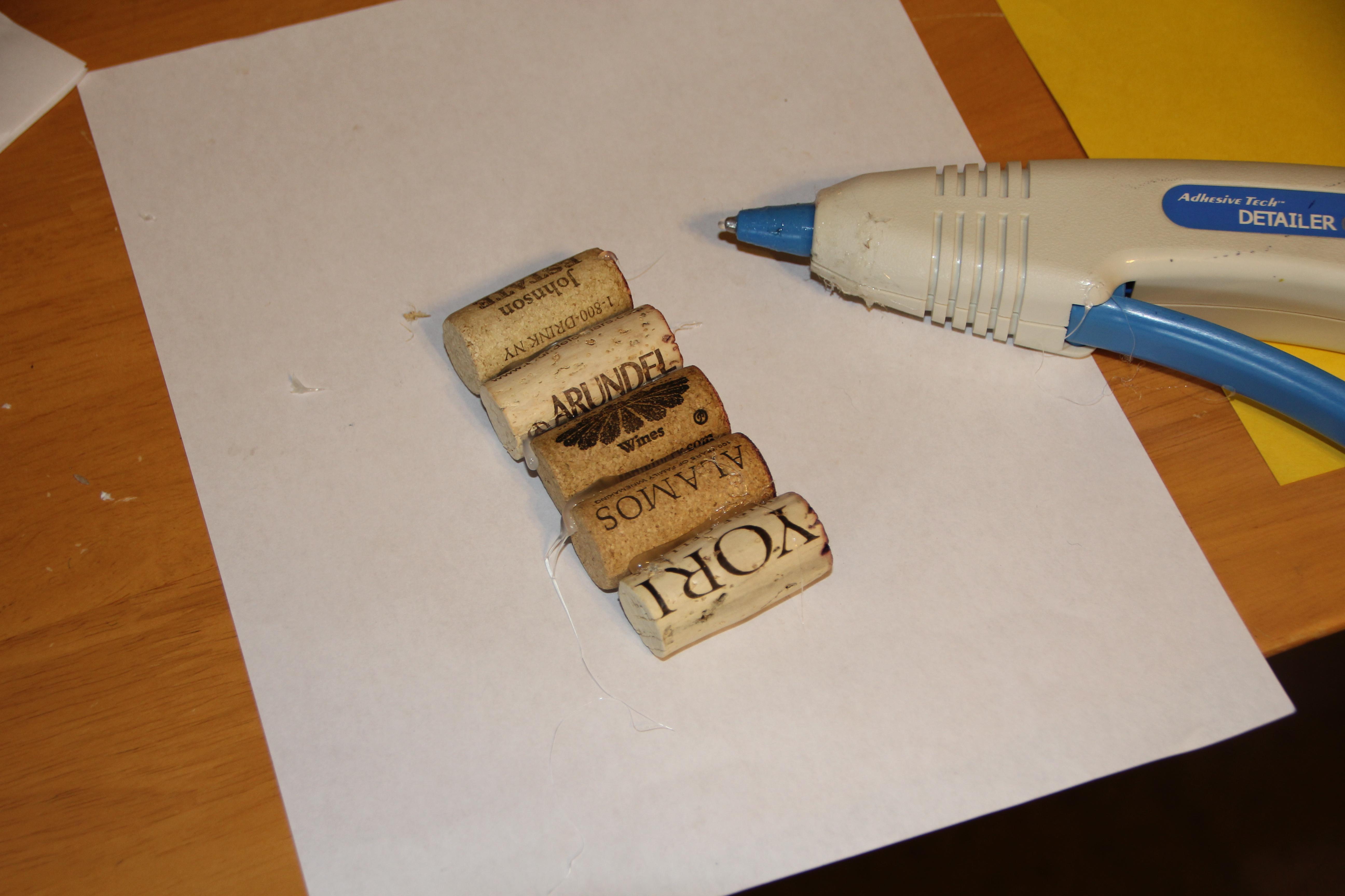 Glue corks together