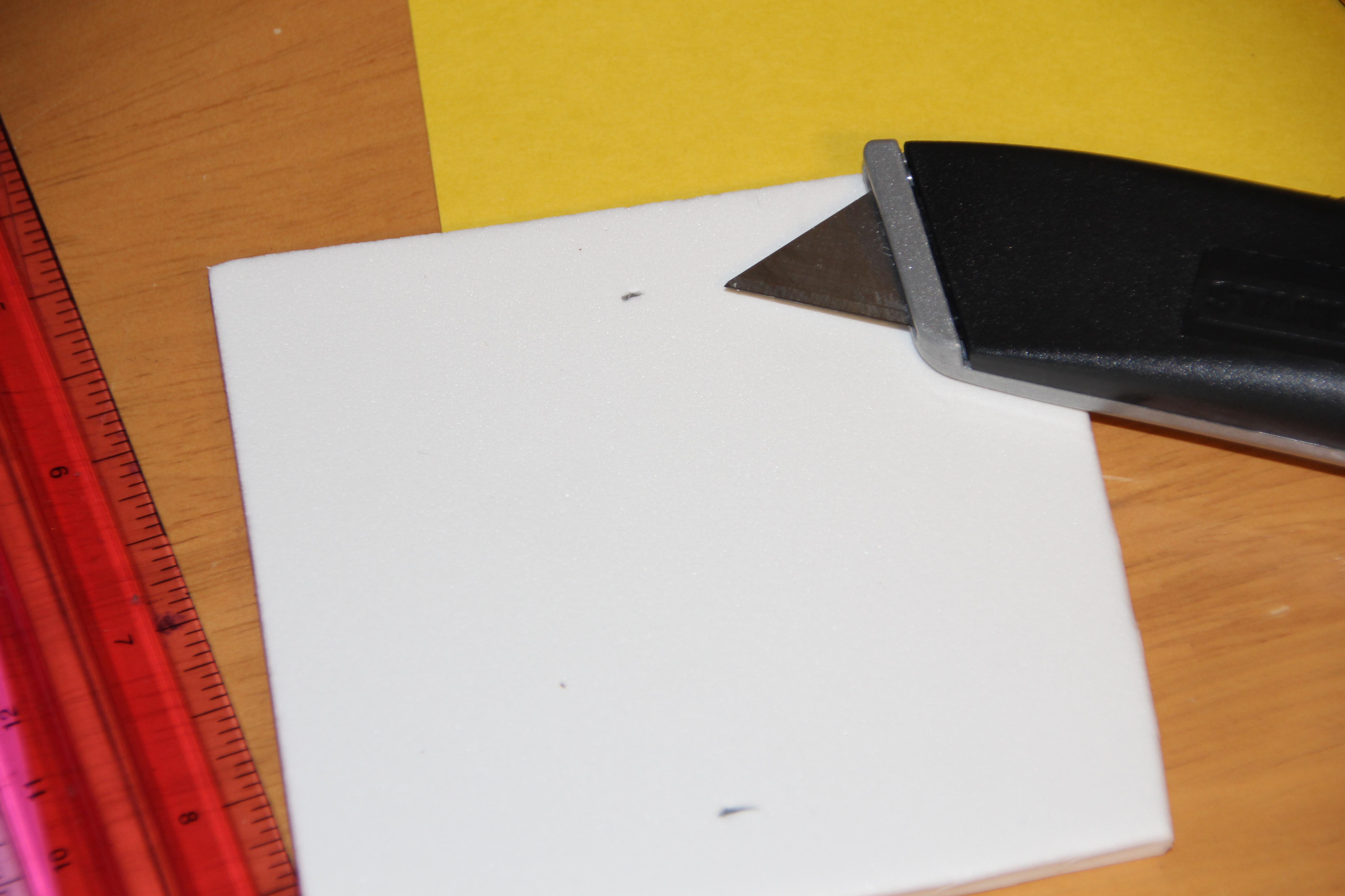 Cut slits on foam sheet