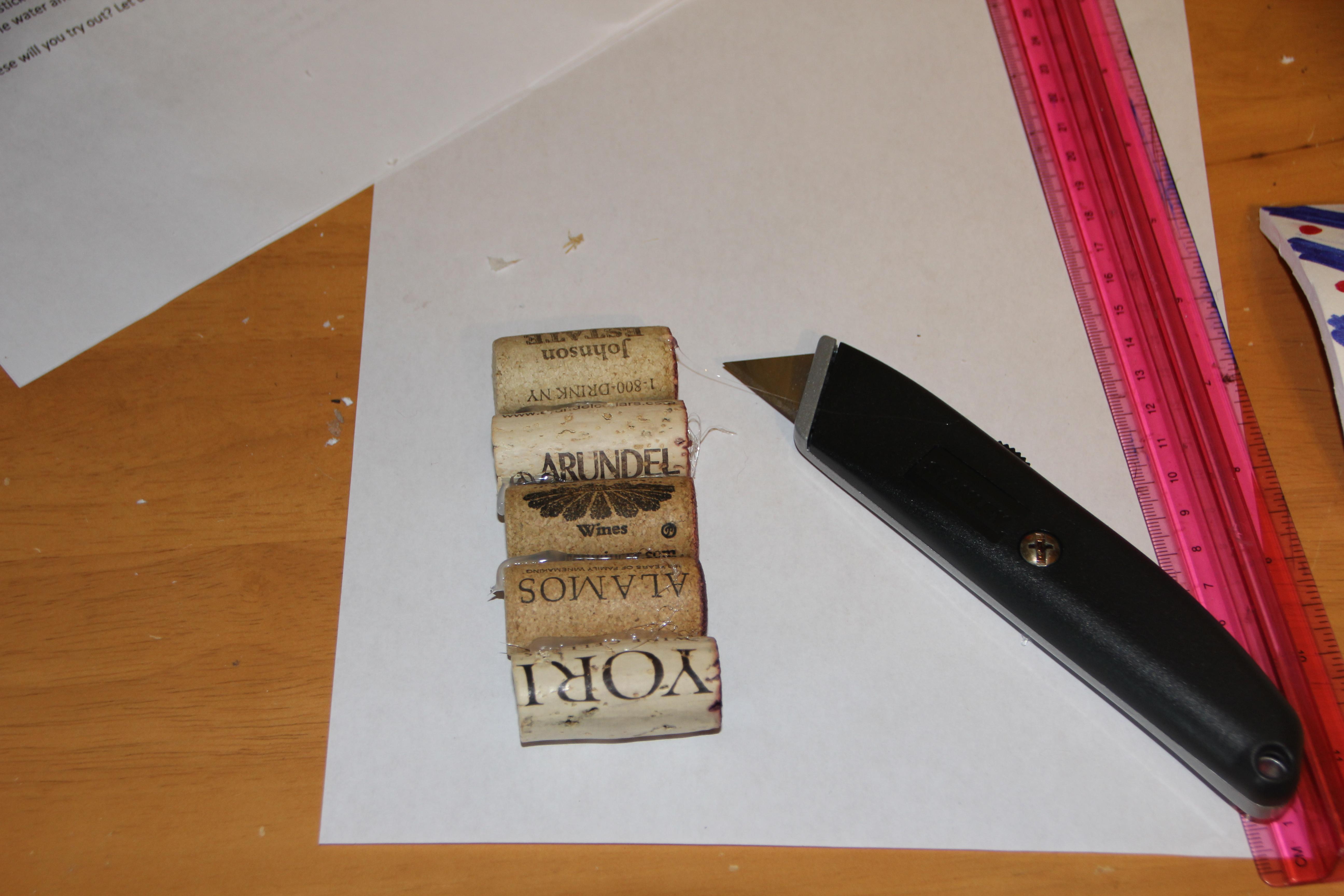 Put slice into center cork