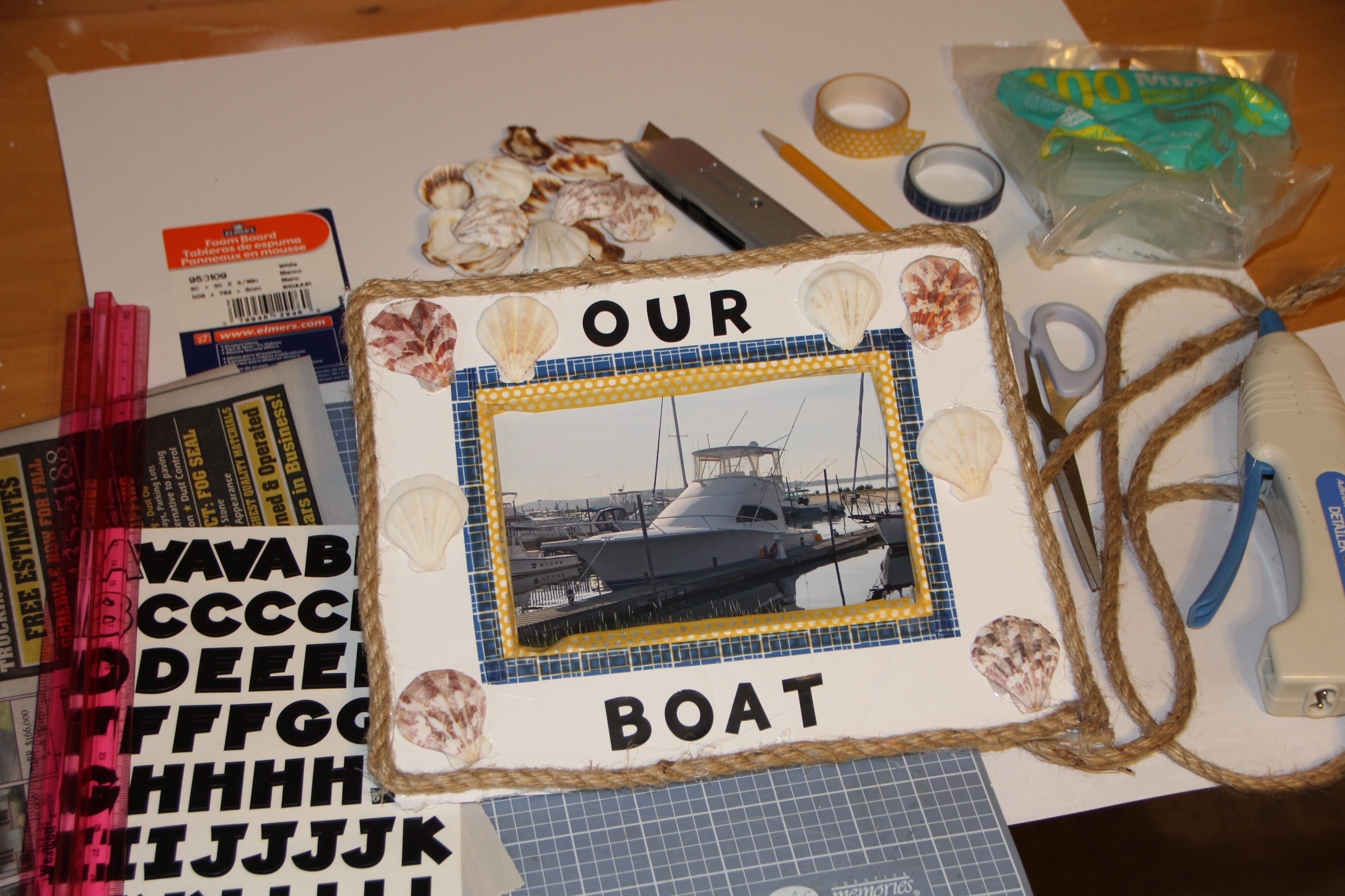 Materials for the Nautical Picture Frame