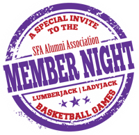 SFA Alumni Member Night at SFA Basketball