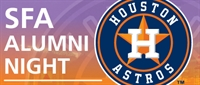 SFA Alumni Night - Tampa Bay Rays vs. Houston Astros in Houston