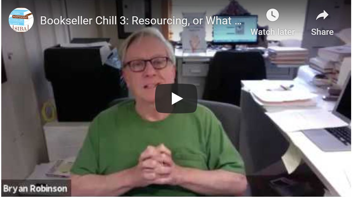 Bookseller Chill, Week 3: Resourcing