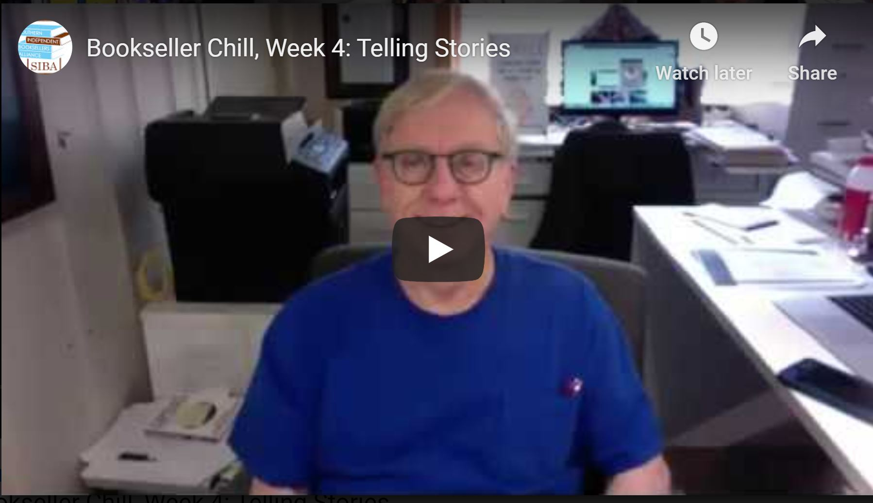 Bookseller Chill, Week 4: Telling Stories