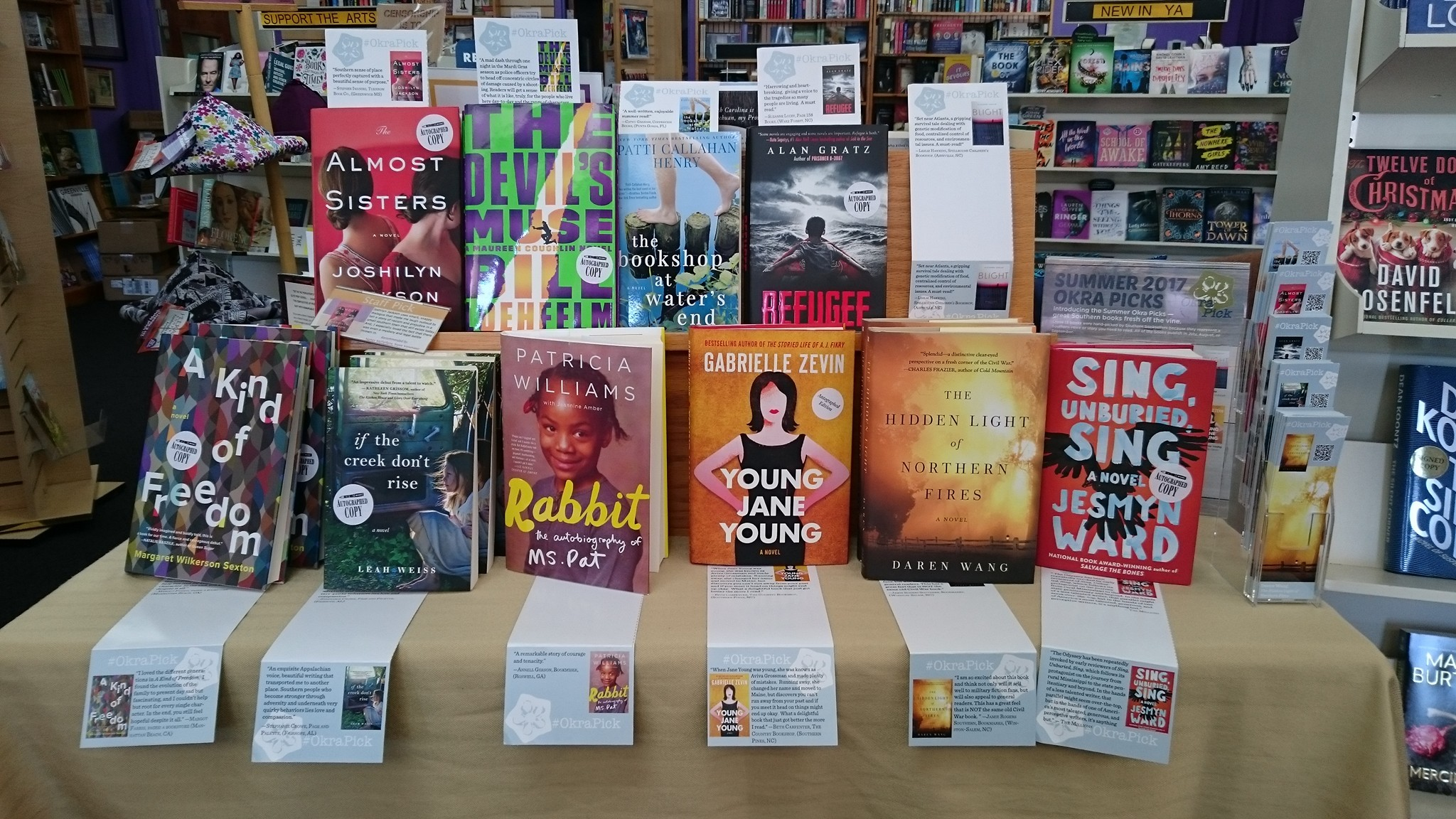 Fiction Addiction's Okra Display