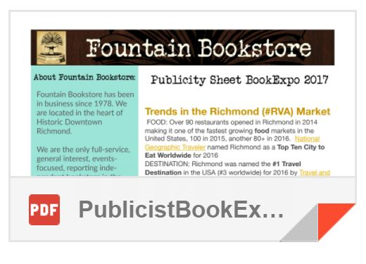 Publicity Sheet for Book Expo