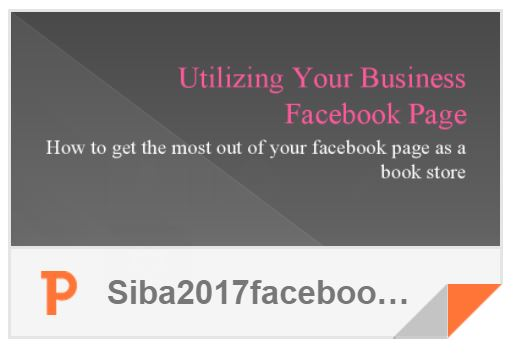 Utlizing Your Business Facebook Page