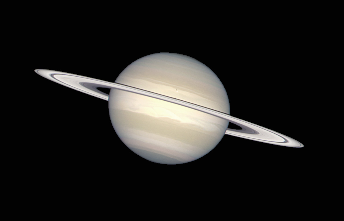 Saturn from the Hubble Telescope