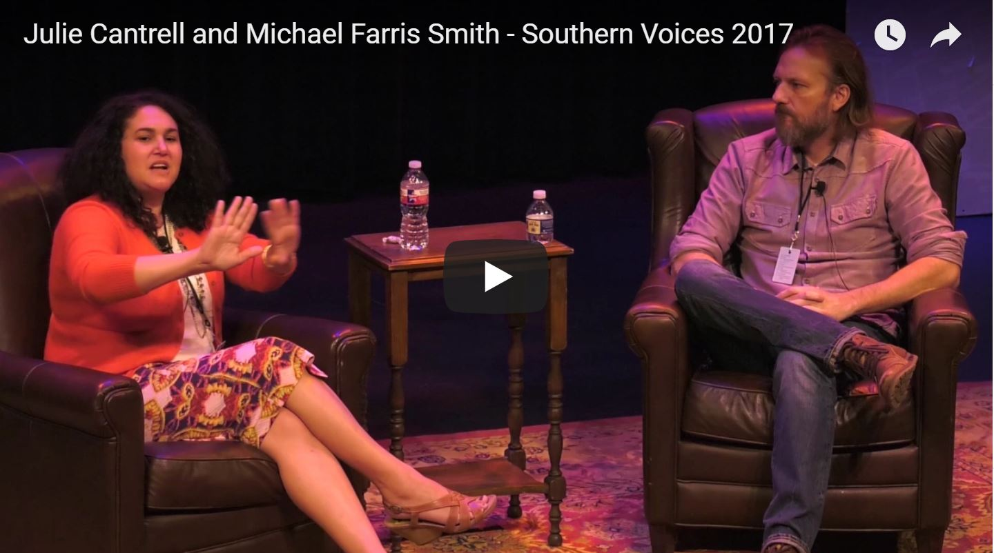 Julie Cantrell and Michael Farris Smith at Southern Voices, 2017