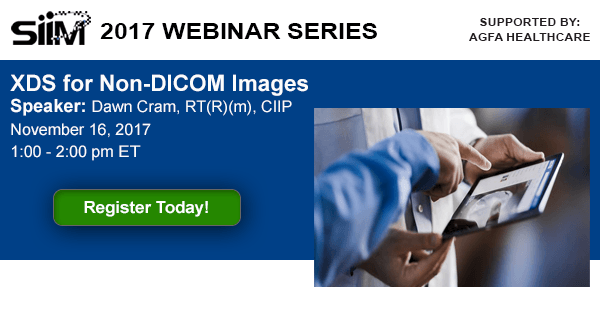 Webinar: XDS for Non-DICOM Images - Society for Imaging Informatics ...