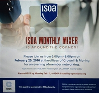 ISOA February Mixer sponsored by MSA Security