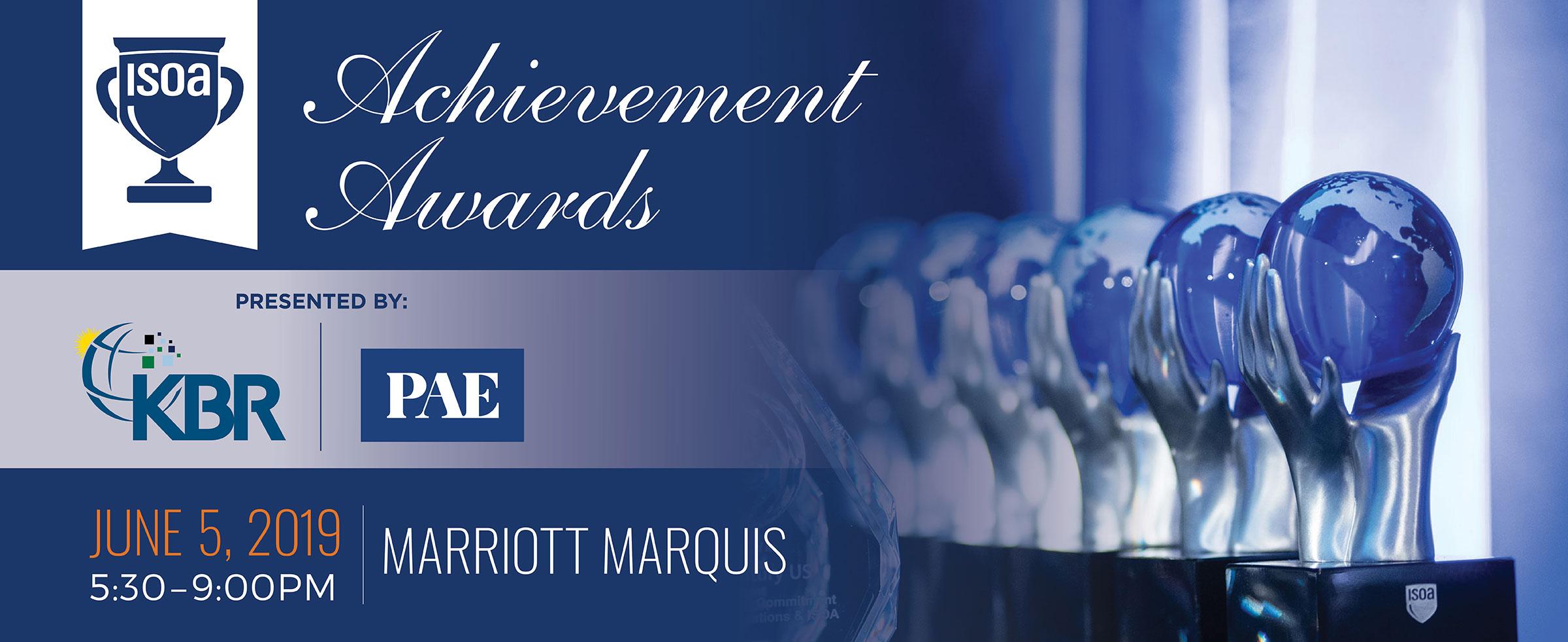 2019 ISOA Achievement Awards - June 5 - Washington DC