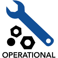 Operational Logo, wrench and bolts