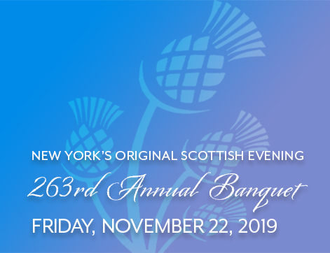 263rd Anniversary Banquet of Saint Andrew's Society of the State of NY