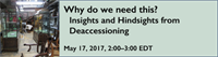 Webinar - Why do we need this? Insights and Hindsights from Deaccessioning