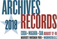 Save the Date: Archives * Records 2018 (Society of American Archivists)