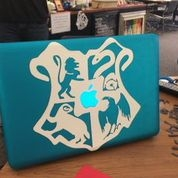 Vinyl decal on a laptop