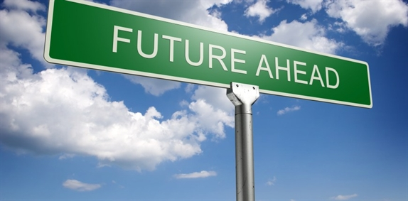 Image of sign saying future ahead