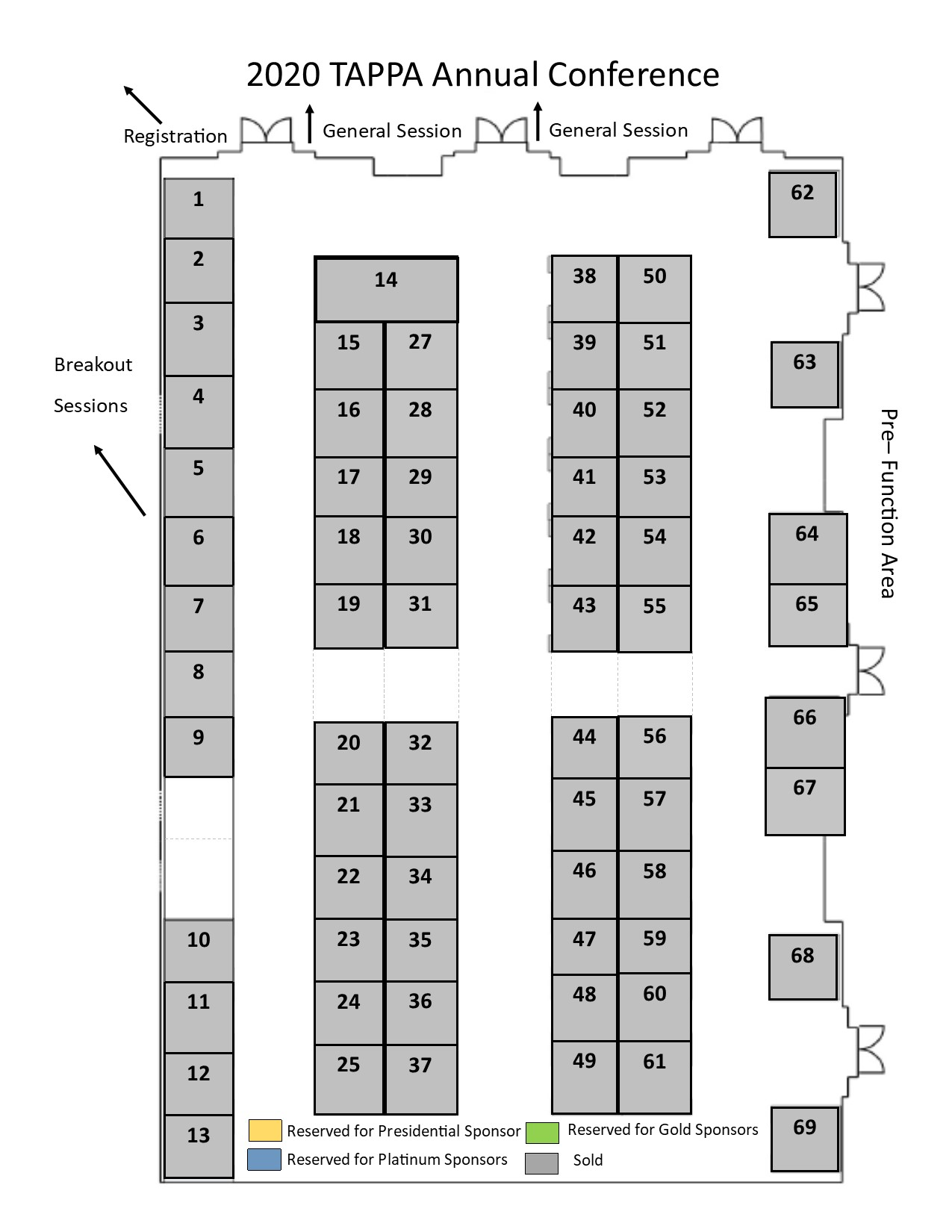 TAPPA Exhibitor Floorplan