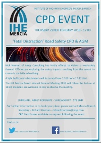 Fatal Distraction CPD Lecture and Mercia Branch AGM