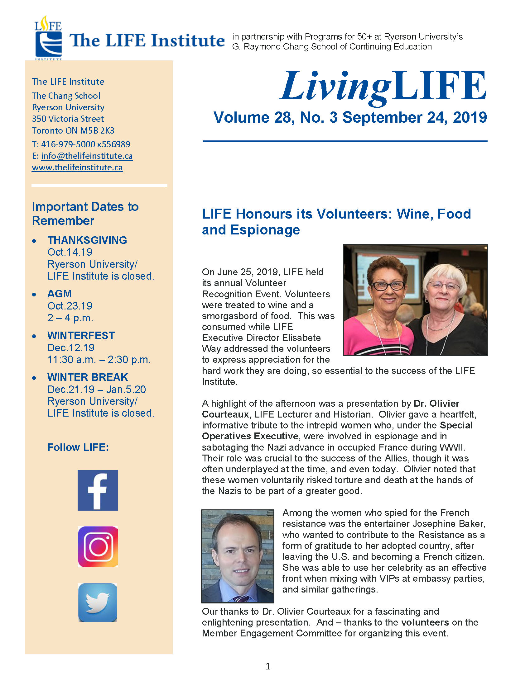Cover Learning Life Newsletter