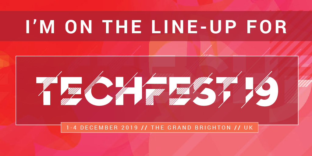 UKOUG Techfest19 - I am on the line-up