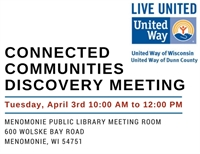 Connected Communities Discovery Meeting - Menomonie