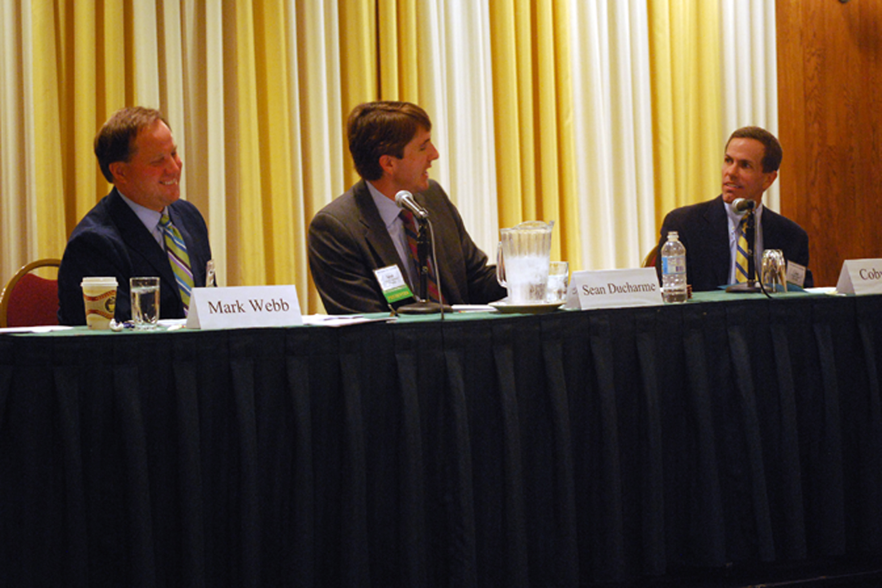 Mark Webb, deputy general counsel with Dominion Resources Inc., Sean Ducharme of Hunton & Williams LLP and Coby Beck of Troutman Sanders LLP shared a panel on managing transaction risk at the VBA Summer Meeting in 2011.